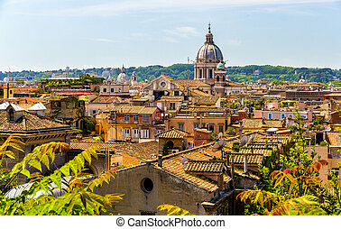 View of Rome historic center, Italy - View of the historic...