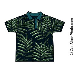 leaf  pattern shirt - Illustration of  leaf  pattern shirt