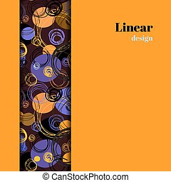 Orange geometric background. - Vertical border stripe...