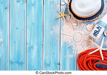Summer vacation beach background theme