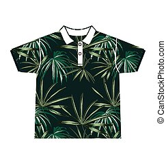 leaf  pattern shirt - Illustration of  leafl  pattern shirt