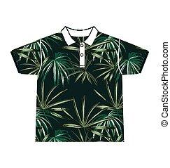 leaf  pattern shirt - Illustration of  leafl  pattern shirt