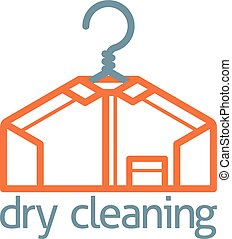 Dry Cleaning Clothes Hanger Shirt Concept - A dry cleaning...