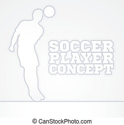 Concept Silhouette Soccer Player - A stylised illustration...