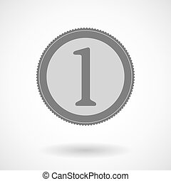 Isolated vector illustration of  a coin icon