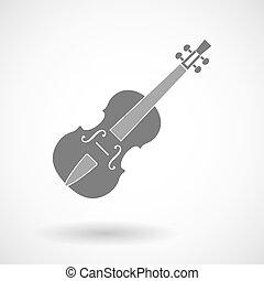 Vector illustration of  a violin