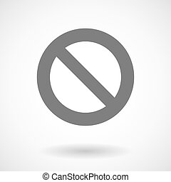 Isolated vector illustration of  a forbidden sign