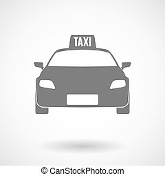 Isolated vector illustration of  a taxi icon