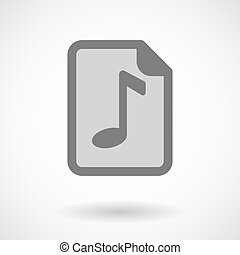Vector illustration of a music score icon - Illustration of...