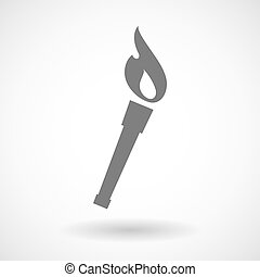 Isolated vector illustration of  a torch icon
