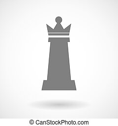 Isolated vector illustration of a queen   chess figure