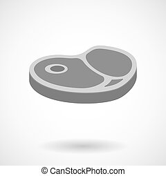 Isolated vector illustration of  a steak icon