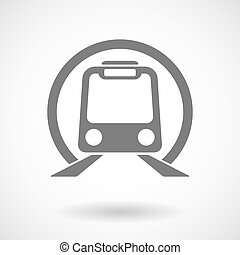 Isolated vector illustration of  a subway train icon