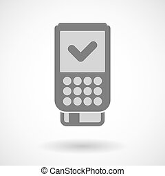 Isolated vector illustration of  a dataphone icon