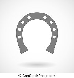 Isolated vector illustration of  a horseshoe sign