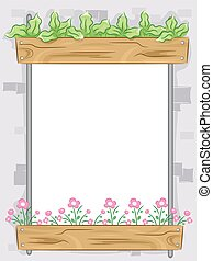 Vertical Garden Frame - Frame Illustration Featuring a...