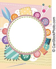 Sewing Buttons Board Frame