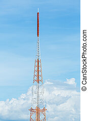 Antenna repeater - White and red color antenna repeater...