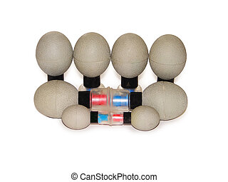 Massage magnets - Massage marnets isolated on the white...