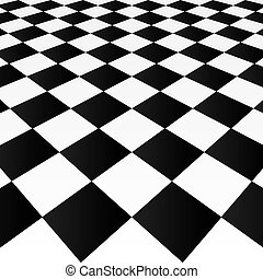 Checkered background - Abstract checkered background, vector...