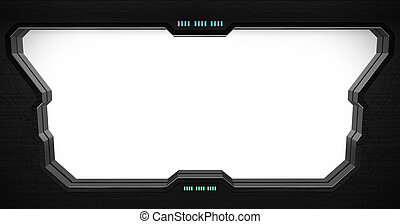 Space station window interior - Space station window with...