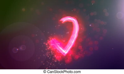 "I Love You - Heart - Light stroke particle heart plus \""I..."