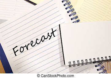 Forecast write on notebook - Forecast text concept write on...