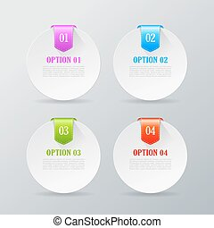 Options compare cards set