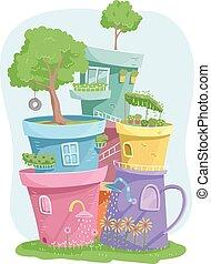 Garden Pot Houses