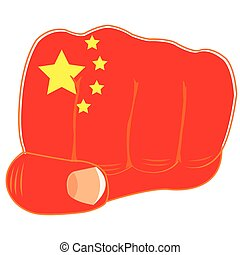 Flag of the china on fist