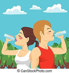Sport Couple Drinking