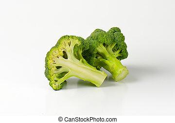 Fresh heads of broccoli - Fresh broccoli - one whole head...