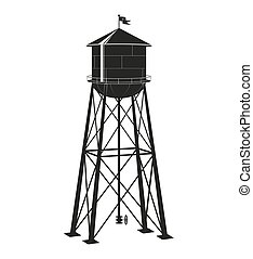 contour of the old water tower - the contour of the old...