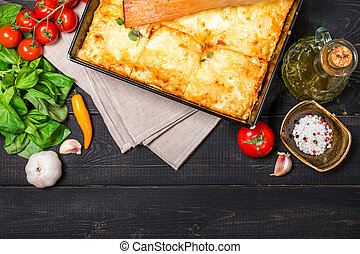 Traditional italian lasagna - Delicious traditional italian...
