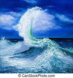 paisagem, oceânicos