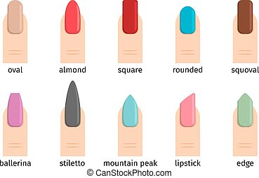 Nail shape icons
