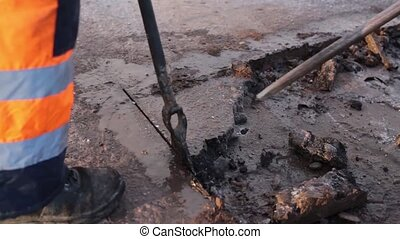Cleaning Dirt From Potholes HD