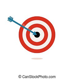 Target Vector Illustration - red and white target on a white...