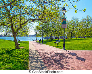 Canton Waterfront Park along the Baltimore Waterfront...