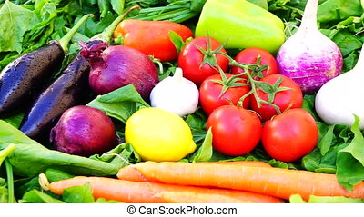different vegetables and citrus fruits