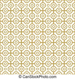 Seamless Abstract Vector Pattern - Geometric abstract vector...