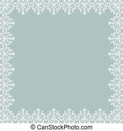 Floral Vector Fine Frame - Classic vector square frame with...