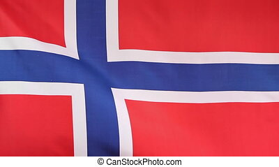 National flag of Norway - Fabric national flag of Norway...