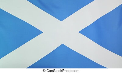 Fabric national flag of Scotland