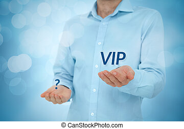 VIP versus anonymous - VIP person versus anonymous concept...