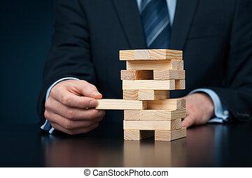 Risk management - Metaphor of risk in business. Risk...