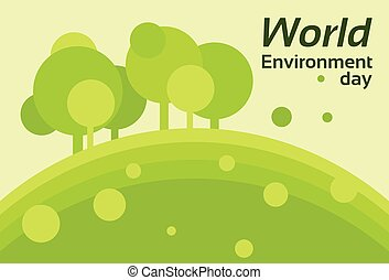 World Environment Day Earth Protection Silhouette Forest...