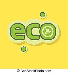 Eco Icon Green Logo Nature Environment Protection Flat...