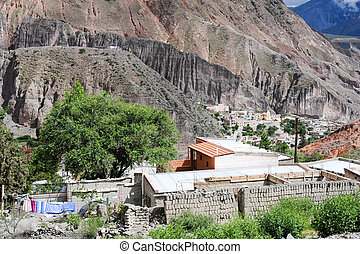 The indian village of Iruya on the Argentina andes