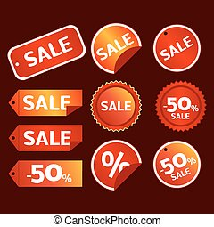 sale tag vector set